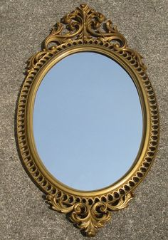 Vintage mirrors on pinterest etched mirror wall mirrors for Plastic baroque mirror
