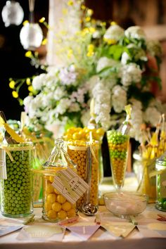 Candy bar at country orchard barn wedding in upstate New York in the finger lakes. (www.mattwittmeyerweddings.com)