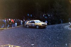 Per Eklund on the Corris stage of the 1991 RAC Rally