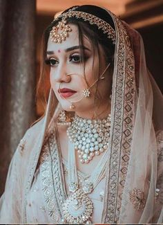 Perfect finishing to a bridal look is given by stunning nose rings! Book the best makeup artist now with BookEventZ to get the perfect bridal look on THE DAY! Wedding Dress, Desi Wedding, Indian Wedding Outfits, Wedding Chura, Wedding Bride, Beautiful Indian Brides, Beautiful Bride, Bridal Looks, Bridal Style