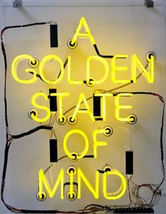 Creative Typography, Golden, State, Mind, and Creative image ideas & inspiration on Designspiration California Love, California Quotes, California Living, Mellow Yellow, Yellow Art, Neon Yellow, Yellow Words, Yellow Shades, Yellow Sign