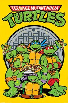 Teenage Mutant Ninja Turtles - Retro - Official Poster