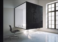 Obsidian Office Design || could be a cool way to play off the logo design (subdivide interior: half white board, half cork or magnetic board...)