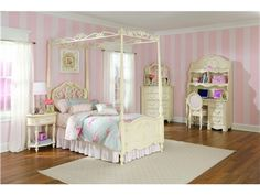 Shop for Lea Industries 3/3 Twin Metal And Wood Poster Bed, 203-935R, and other Youth Bedroom Beds at Elite Interiors in Myrtle Beach, SC. Includes Hook on Rails.
