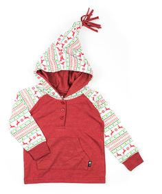 Another great find on #zulily! Red Holiday Nordic Hoodie - Infant, Toddler & Boys by Littlest Prince Couture #zulilyfinds