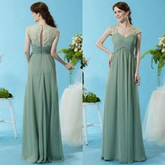 2015 Gorgeous Lace Cap Sleeve Bridesmaid Dresses Sage A Line Sweetheart Ruched Chiffon Sheer Back Appliques Formal Prom Gowns from Weddingfactory,$117.28 | DHgate.com
