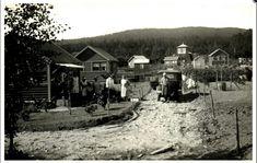 Christiania Kristiania Oslo  Solvang Hageby med bil A-6250 og noen hytter. 1930-tallet