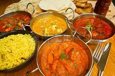 Photo about Selection of indian food with pilau rice, naan bread, poppadoms and samosas a popular choice for eating out in european countries. Image of asia, dining, asian - 33587691 Pollo Tikka Masala, Garam Masala, Chicken Tikka Masala, Indian Food Recipes, Healthy Recipes, Ethnic Recipes, Curry Recipes, Healthy Foods, Keto Recipes
