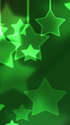 Green Stars iPhone 5  wallpaper