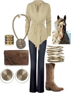 """""""classy cowgirl"""" by lynstemmerman ❤ liked on Polyvore"""