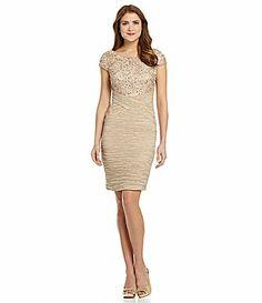 KM Collections ShortSleeve Crinkle Dress #Dillards mothers dress?