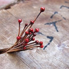 18 gauge Cherry Enameled Copper Headpins Ball End-10 Pieces, Handmade wire headpins-Enameled Supplies. $6.25, via Etsy.