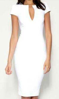 Vestidos blancos cortos elegantes Elegant Outfit, Elegant Dresses, Cute Dresses, Beautiful Dresses, Formal Dresses, After School, White Suits, Little White Dresses, Office Outfits