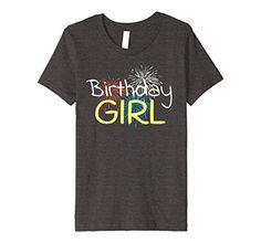 Amazon.com: Birthday Girl Happy Birthday Party Fireworks Celebration Tee: Clothing