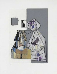 """Manolo Valdés Grabado al Aguafuerte y Collage """"Cubismo como Pretexto 8"""" 2004 64 x 48.6 cm Tirada de 100 ejemplares Numerado 4/10 HC y firmado a mano Enmarcado Precio: 2.200 €"""