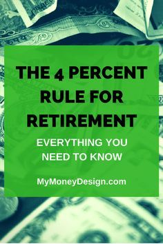 How well do you real How well do you really know the 4 Percent Rule safe withdrawal rate for retirement? Here are the details that will help ensure your money lasts! Preparing For Retirement, Retirement Advice, Investing For Retirement, Early Retirement, Investing Money, Retirement Planning, Retirement Benefits, Retirement Countdown, Retirement Savings