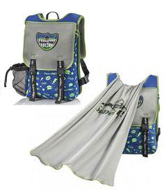 b1952b3eb223 Ocean Graffiti Cape Kids Backpack -superhero backpacks for boys From the  outside