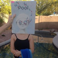 Today's #bookface features Pool -- a wordless picture book by JiHyeon Lee. Happy #bookfacefriday everyone.  It's the weekend....jump in!!! #cplbookface