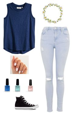 """""""#33"""" by fashionforeverme101 ❤ liked on Polyvore featuring H&M, Topshop, Converse, Carole, Limedrop, women's clothing, women, female, woman and misses"""