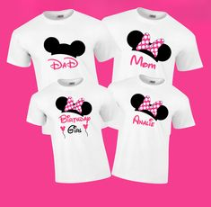 Disney Birthday Girl Vacation Family T Shirts Minniemousebirthday Matchingshirts Minniemouse Disneyshirt Disneytrip Disneyland Customshirt
