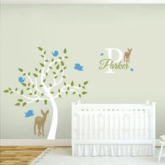 Custom Name Tree Scene Nursery & Kids Decorative Wall Decals and Stickers