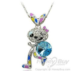 Cute Bunny  Crystal Necklaces