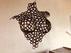 Sculptures Sur Fil, Sculpture Art, Wire Sculptures, Metal Projects, Art Projects, Art En Acier, Fantasy Wire, Steel Art, Metal Furniture