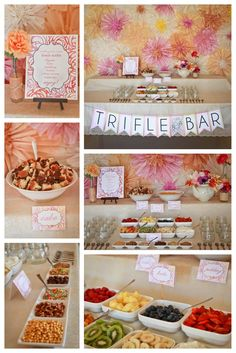 A make your own miniature trifle bar!