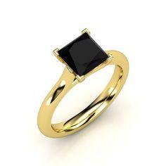 The Eleni Ring #customizable #jewelry #blackonyx #gold Ring