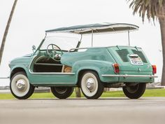 This Adorable Mint Green Fiat Twinset is For Sale Beach Rides, Beach Cars, Fiat Cinquecento, Fiat Abarth, Fiat 500, Jeep Wrangler, Swiss Cars, Automobile, Green Jeep