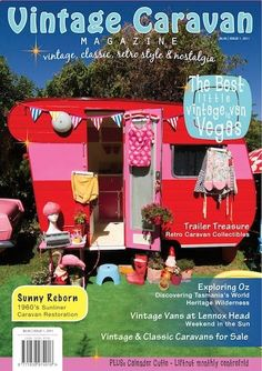 25 of the Cutest Campers Ever! - pictured: red and pink - featured in Vintage Caravan Magazine : babble