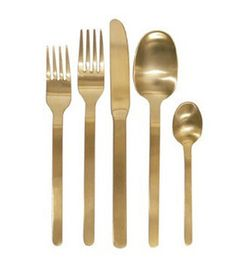 Domino Gold Cutlery Set