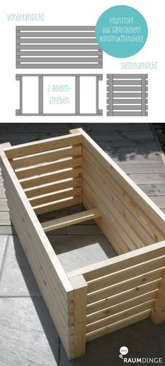 DIY-Pflanztopf statt Buchsbaumkugeln (raumdinge) - Lieber ein Ende mit Schrecken als ein Schrecken ohne Ende … Als wir hier vor gut einem Jahr eingez - Diy Garden Bed, Raised Garden Beds, Garden Types, Balcony Plants, Balcony Garden, Modern Planting, Modern Garden Design, Planter Boxes, Garden Projects