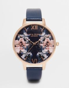 Olivia Burton | Olivia Burton Exclusive Floral Big Dial Watch at ASOS
