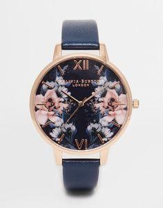 Olivia Burton | Olivia Burton Exclusive Floral Big Dial Watch at ASOS