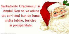 Craciun Sarbatorile Craciunului si Anului Nou sa va aduca tot ce-i mai bun pe lume, multa iubire, fericire si prosperitate