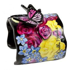 Wide Cuff - Floral Butterfly from Debbie Brooks Handbags.