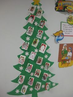 """Birth Announcement (Baby Pictures of Students) Christmas Tree - Unto us a child is born..."""""""