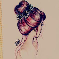 Bunhead Hair by DebbyArts.deviantart.com on @deviantART