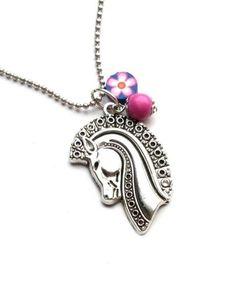 Halskette für Mädchen mit Pferdekopf Anhänger