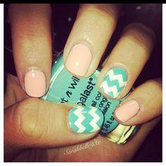 Chevron Nails :) favorite colors