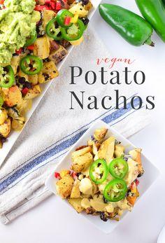 Vegan Potato Nachos - Delicious Knowledge