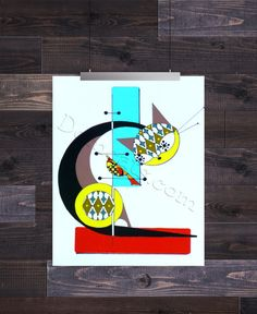 Letter C, Mid Century Modern Cat Alphabet, Giclee Print by Dominic Bourbeau Charlie Harper, Eames, Alphabet, Style Vintage, Vintage Design, High Museum, Thing 1, Sampler Quilts, Mid Century Modern Art