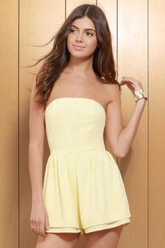 Krystal Strapless Romper at Tobi.com #shoptobi