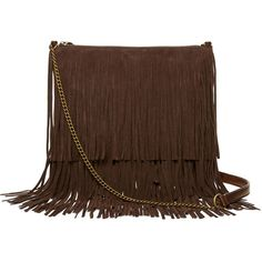 T-Shirt & Jeans™ Fringe Tiered Crossbody Bag ($30) ❤ liked on Polyvore featuring bags, handbags, shoulder bags, bolsos, brown cross body purse, crossbody shoulder bags, brown shoulder bag, crossbody handbags and fringe crossbody