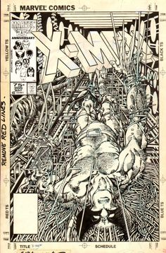 Barry Windsor-Smith Uncanny X-Men 205 cover Comic Art