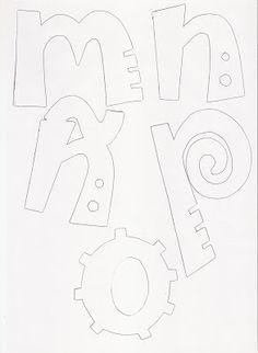 Molde de letras   RECREAR - MANUALIDADES - ARTE