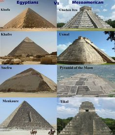 Similarities of the Pyramids of Ancient Civilizations, separated by Oceans, yet clearly in communication over centuries.