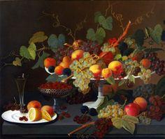 severin roesen still life of fruit painting