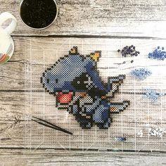 Third little MapleStory pet - tiny blue dragon. RAWR! He fierce!!   ...  ...  ...  #perlerart #pixelart #perlerbeads #perlerbrand #perlerartist #pixelart #calgaryart #calgary #yyc #maplestory #pet #videogames #mmorpg #koreangame #dragon #babydragon #videogamepet    #Regram via @hollohandcrafted